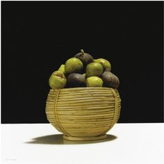 realistic still life painting by Luciano Ventrone