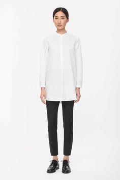 Slim cotton trousers, cosstores, $99
