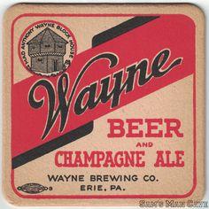 Wayne Beer and Champagne Ale Coaster Beer Coasters, Brewing Co, Ale, Champagne, Signs, Ale Beer, Shop Signs, Ales, Sign