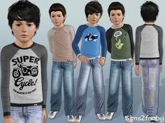 sims2fanbg's 302 - Child casual set