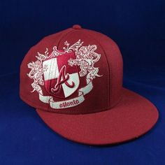 59FIFTY New Era Hat Fitted Atlanta Braves MLB Baseball Cap OS Clothing, Shoes & Accessories:Men's Accessories:Hats