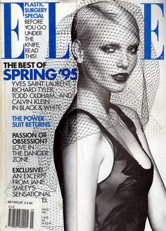 "Magazine : Elle US, March 1995  Editorial : ""Midnight Sheer""  Photographer : Gilles Bensimon"