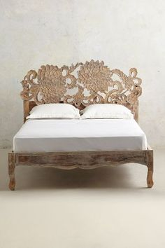 Handcarved Lotus Bed - anthropologie.com #anthrofave