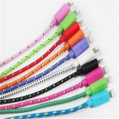 IPhone 5 Charger Usb Data Cable Cord  5s 5c 6 Plus Braided 8 Pin Lightning 6 FT