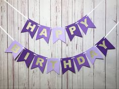 Celebrate with this beautiful birthday banner made in shades of purple and gold. Perfect for a cake smash, first birthday party, sweet 16 or any age birthday! DETAILS - You will receive one banner with the phrase HAPPY BIRTHDAY - Include an age on the banner at no additional charge Purple Happy Birthday, Happy 75th Birthday, 2nd Birthday Party Themes, Mermaid Theme Birthday, 1st Birthday Banners, Glitter Birthday, Happy 1st Birthdays, 1st Birthday Girls, Birthday Decorations