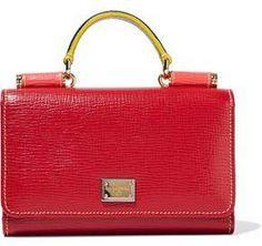 Von color-block textured-leather shoulder bag  369771c8a034e