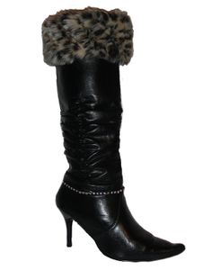 Leopard Faux Fur Boot Cuff by CAMGLAMM on Etsy, $35.00
