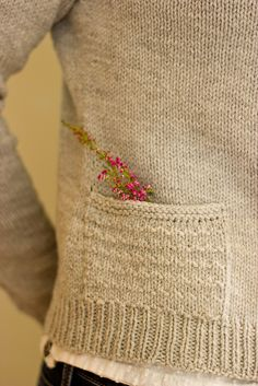 Heathered cardi pattern by Melissa Schachwary