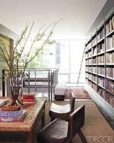Lofted library home of Cristina Azario