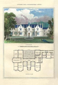 A Tudor Hall Elizabethan Style by Richard Brown - Art Print