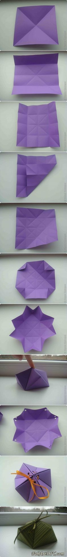 How to DIY Paper Origami Gift Box | www.FabArtDIY.com%0ALIKE Us on Facebook ==> https://www.facebook.com/FabArtDIY