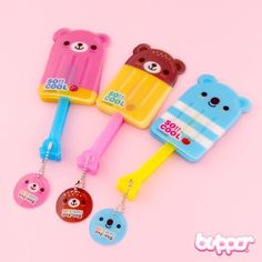 Cute Guys Ice Cream Bear Fan