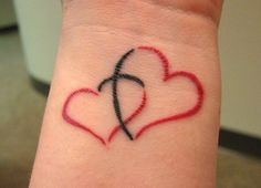two hearts - 70 Lovely Tattoos for Girls  <3 <3
