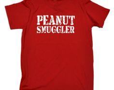 123t Slogan Men's Peanut Smuggler Loose Fit T-Shirt / T Shirt Funny Top Unisex Women's