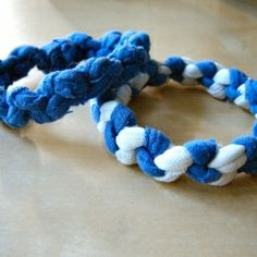 Cute bracelets make from old t-shirts.  http://craftgawker.com/post/2011/06/17/22778/