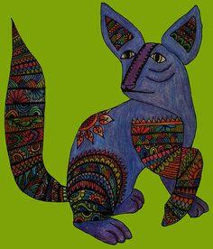 Mexican Art Alebrije by Cynthia Cabello
