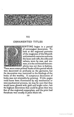 Title-pages as Seen by a Printer: With Numerous Illustrations in Facsimile ... - Theodore Low De Vinne - Google Books - Initial P