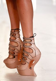 AMAZING!!! Inspiration - Shoes!! Shoes from Alexander McQueen runway.