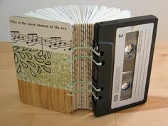 Cassette Tape Book - Green Collage