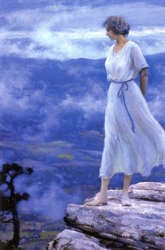 The Athenaeum - The Hilltop Charles Courtney Curran - 1918 The Parthenon (United States) Painting - oil on canvas Height: 76.2 cm (30 in.), Width: 50.8 cm (20 in.)