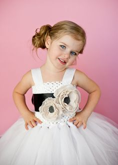Anna Flower Girl Tutu Dress with Double by TheLittlePeaBoutique, $180.00