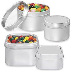 Metal Tins, Seamless Tins, & Tea Tin Containers in Stock - ULINE
