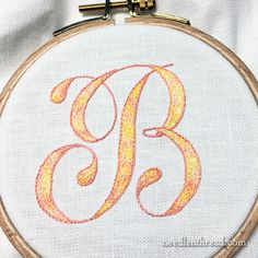 Long & Short Stitch Monogram with DMC Variations