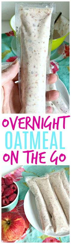 Need a healthy breakfast easy for on the go? You and your kids will love these Overnight Oatmeal pops on the go! #AD http://thecardswedrew.com/overnight-oatmeal-to-go-for-kids/
