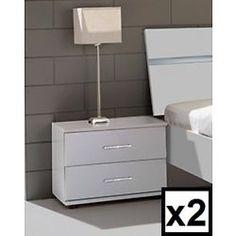 Qmax 'City' Range German Made Bedroom Furniture. White.