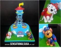 PAW Patrol Lookout Tower coloring   Marshall Paw Patrol Cake Related Keywords & Suggestions - Marshall Paw ...