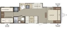 Keystone RV 286QBSWE floorplan I'd either want a small RV or go big and get one with a bunk house in the back for the kids.