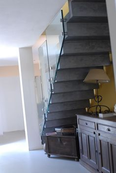 Guardrail connection to stairs.  - Courtesy of Wagner Companies - Railing Products & Services - http://www.wagnercompanies.com/