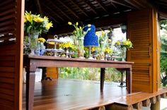 decoracao festa salvador azul e amarela