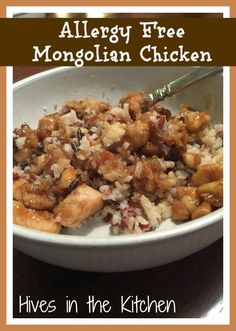 Hives in the Kitchen: {Allergy Free} Mongolian Chicken