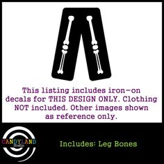 Leg Bones to Match Pregnant Skeleton Costume DIY Iron on for Maternity Shirt on Etsy, $18.00