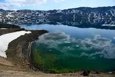 askja iceland | Panoramio - Photo of Lake Oskjuvatn in July. Askja, Iceland