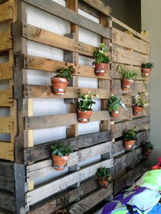 Pallet Wall Planter; Spotted at  Lululemon Athletica Des Moines Showroom, IA ! #Planter