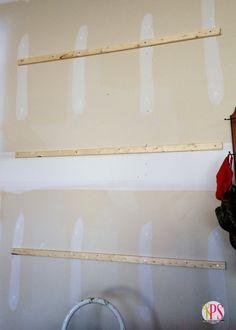 How to Hang Pegboard – Garage Organization DIY How To Install Pegboard, Hang Pegboard, Pegboard Garage, Pegboard Organization, Diy Garage, Garage Storage, Organizing Tips, Garage Ideas, Painted Pegboard
