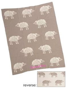 Grey Sheep Natural Cotton Blanket.  Baby Blankets back at Ami.