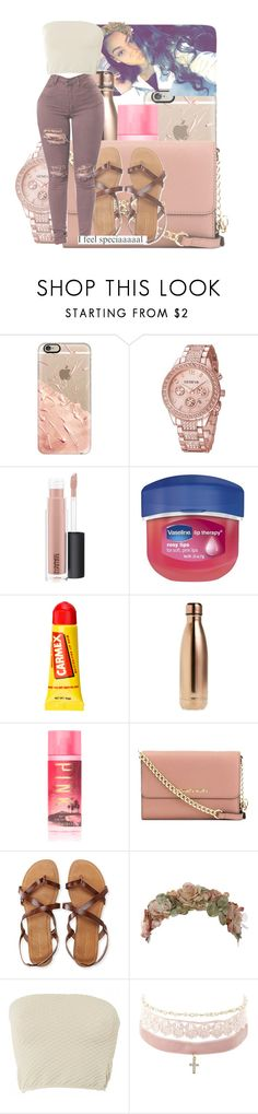 """""""Good morning//Nessa"""" by th3-qu33n-25 on Polyvore featuring Casetify, MAC Cosmetics, Vaseline, Carmex, S'well, Victoria's Secret, MICHAEL Michael Kors, Aéropostale, Her Curious Nature and Louis Vuitton"""