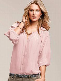 Silk Button-down Blouse #VictoriasSecret http://www.victoriassecret.com/clothing/view-all-tops/silk-button-down-blouse?ProductID=61302=OLS?cm_mmc=pinterest-_-product-_-x-_-x