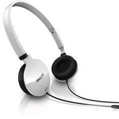 Genuine Philips Lightweight Headset - White| Philips have created some that are lightweight, quality and comfortable. The soft in cushions will make you forget even have them on! The ear shells swivel for easy compact storage.