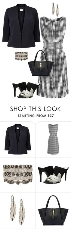 """Serious Business"" by dolenka ❤ liked on Polyvore featuring Studio 8, L'Agence, Savvy Cie, Charles by Charles David and Michael Aram"