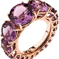 Rose Gold Amethyst cabochon ring Sparkles that Would Wear Me Well Purple Jewelry, Amethyst Jewelry, I Love Jewelry, Jewelry Rings, Jewelry Box, Jewelry Accessories, Fine Jewelry, Jewelry Design, Effy Jewelry