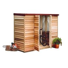 Shed Cedar Belgrave 2.4x0.95x1.98m - Bunnings Warehouse Shed??