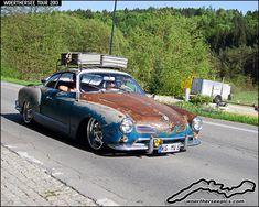 Blue ratlook rusty VW Karmann Ghia coupe