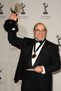 David Suchet Photos Photos: The International Emmy Awards Gala - Press Room Agatha Christie's Poirot, Hercule Poirot, David Suchet, Best Authors, Cinema Posters, Murder Mysteries, Television Program, Famous Men, British Actors