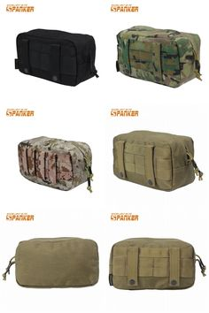 [Visit to Buy] SPANKER Tactical Molle Utility Bags EDC Sundries Bag Accessories Tools Waist Pack Airsoft Belt Pouch Outdoor Sports Hunting Bags #Advertisement