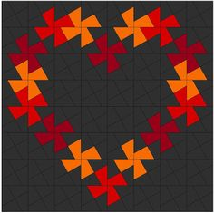 Richard and Tanya Quilts: Love is in the air or at least that's what every commercial tells me! Cute Quilts, Scrappy Quilts, Small Quilts, Mini Quilts, Quilting Templates, Quilting Projects, Quilting Designs, Quilt Patterns, Paper Piecing