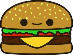 Resultado de imagem para kawaii hamburger